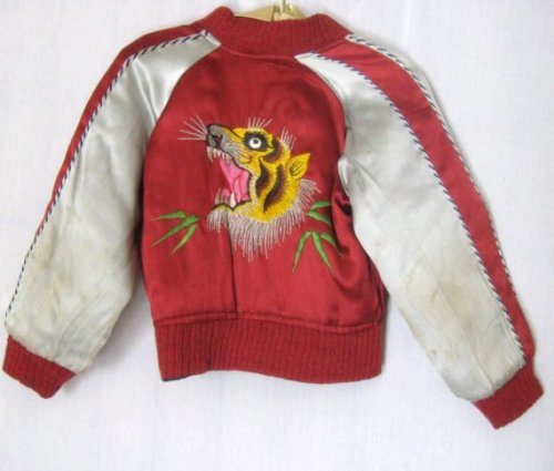 Embroidered childs jacket via Etsy