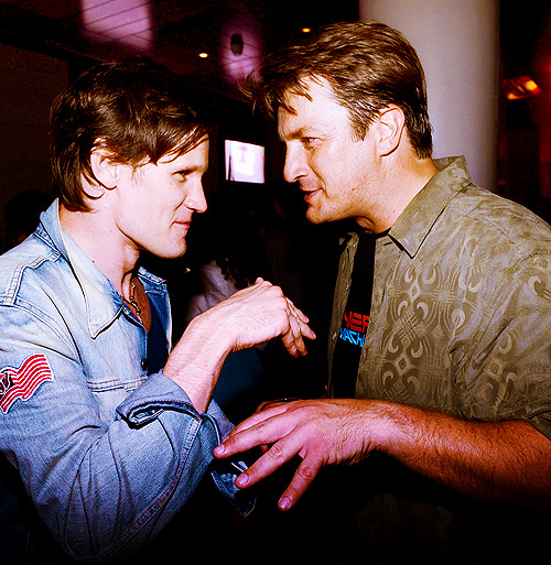 Nathan Fillion & Matt Smith @ Entertainment Weekly's Comic-Con Celebration.
