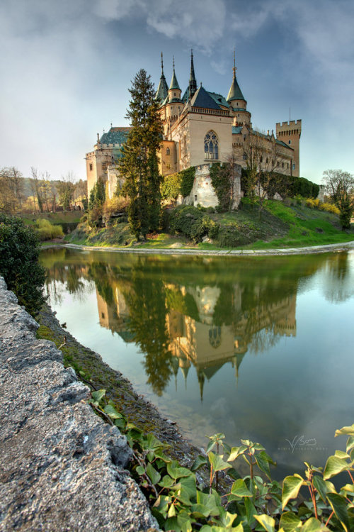landscapelifescape:  Bojnice city, Slovakia Colorful Castle of Spirits by gummaid