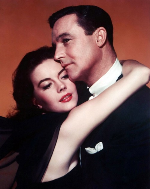 theniftyfifties:  Natalie Wood and Gene Kelly publicity photo for 'Marjorie Morningstar', 1958.