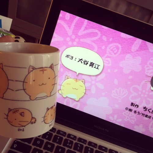 new episode of Poyopoyo and coffee in my Poyo mug ;D