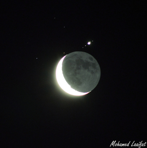 occultation Jupiter by Mohamed LAAIFAT on Flickr.