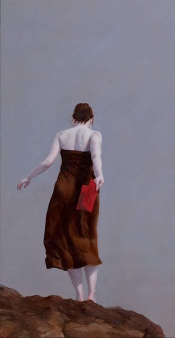"chasingtailfeathers:  Judy Nimtz, ""Coda"", 2010, oil on panel, 32"" x 16"""
