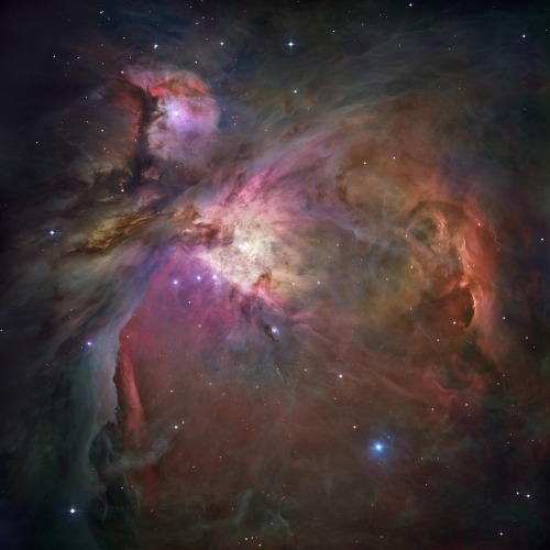 Orion Nebula as viewed through the Hubble telescope