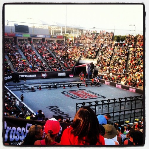 Final day of the #crossfitgames is on tap. (Taken with Instagram at The Home Depot Center)