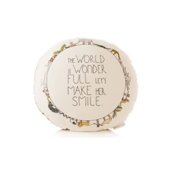 OUR WORLD IS WONDERFUL !  Pillow by Smiling Planet