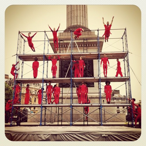 Streb warm up! (Taken with Instagram at Trafalgar Square)
