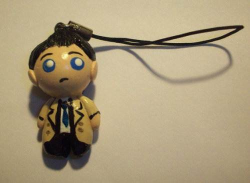 Supernatural - Castiel Phone Charm by HandieAnnieCreations. $5
