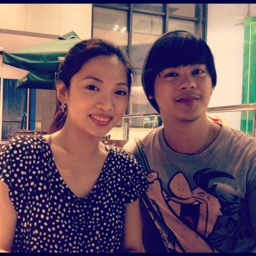 Meetup with madamme black lily #sbux #bonchon #shangrila  (Taken with Instagram)
