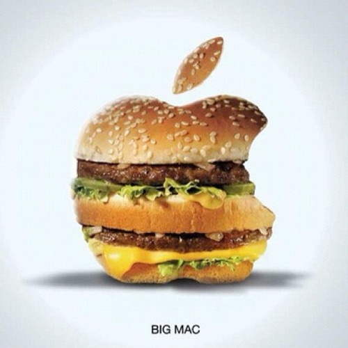 Big Mac advertising parody by Maarwan Youhnis #art #design #mcdonalds #apple http://www.insidethatad.com/2012/07/maarwan-youhnis-advertising-parody.html?m=1 (Taken with Instagram)