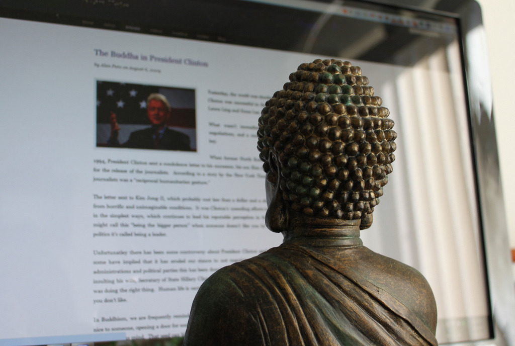 Lord Buddha browsing the Web Related post: We are what we browse…