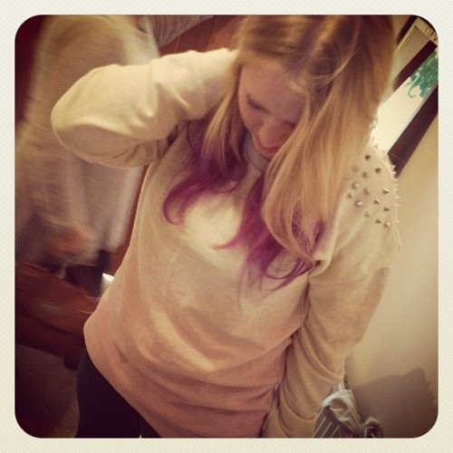 Rocking the double dip-dye (Taken with Instagram)