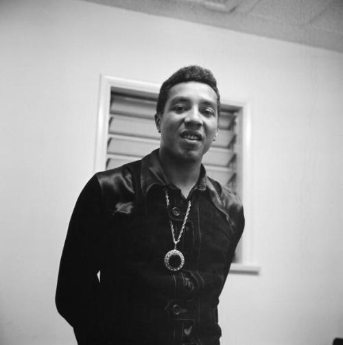 Smokey Robinson lookin' all smooth in a satin shirt and medallion in L.A. in the mid 1960s. I just need to know - who has tried this gumbo that he has been marketing lately? Photo: Michael Ochs Archives/Getty