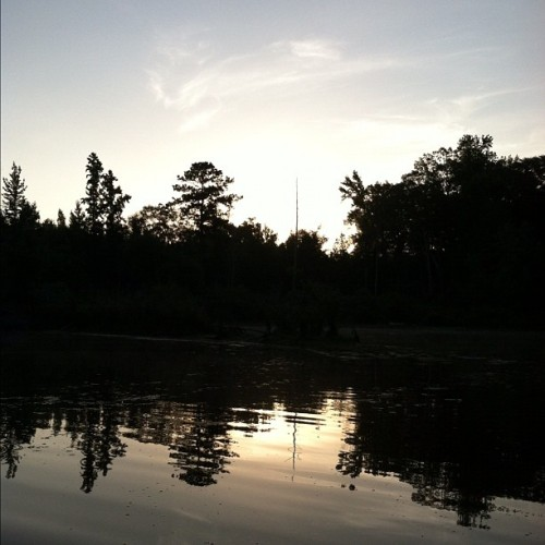 My pond at sunrise. #nofilter (Taken with Instagram)