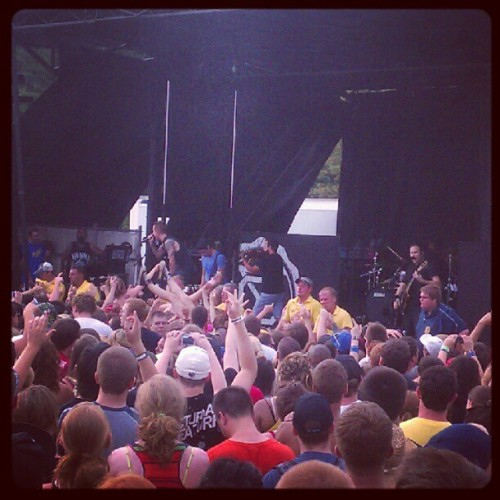 Yellowcard. Somewhere in there I swear I saw @lillauralove crowd surf haha. #warpedtour #music #yellowcard  (Taken with Instagram)