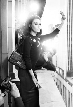Mila Kunis for Miss Dior Bags 2012 by Mario Sorrenti/