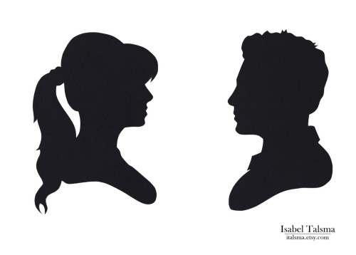 Who's That Girl Hand-cut silhouettes of Nick and Jess from FOX's hit show, New Girl. New Girl was one of those shows that kind of snuck up on me. I didn't think much about it going in, but by the end of Season 1, I felt really attached to all of the characters. I can't wait to see what's in store for Season 2! And fun fact of the day, Elizabeth Merriwether, the writer and creator of the show, graduated from my high school. Small world! Available on Etsy.