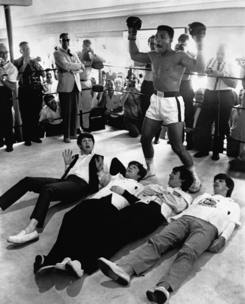 knocked down.. The Beatles and Muhammad Ali