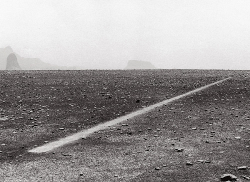 Richard Long's beautiful Dusty Boots Line, 1988
