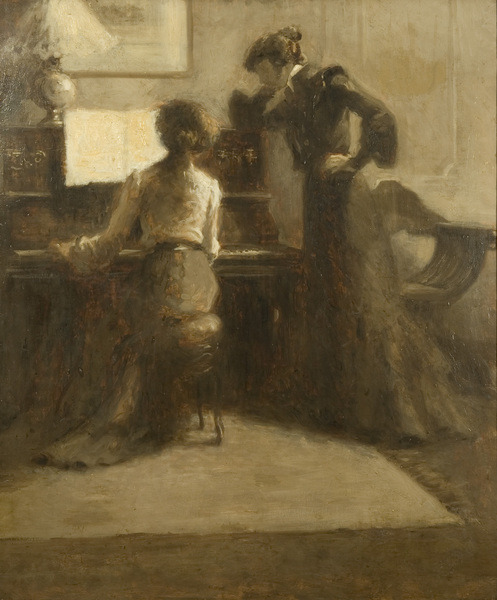 The Pianist by Eugène Carrière [ca. 1900]