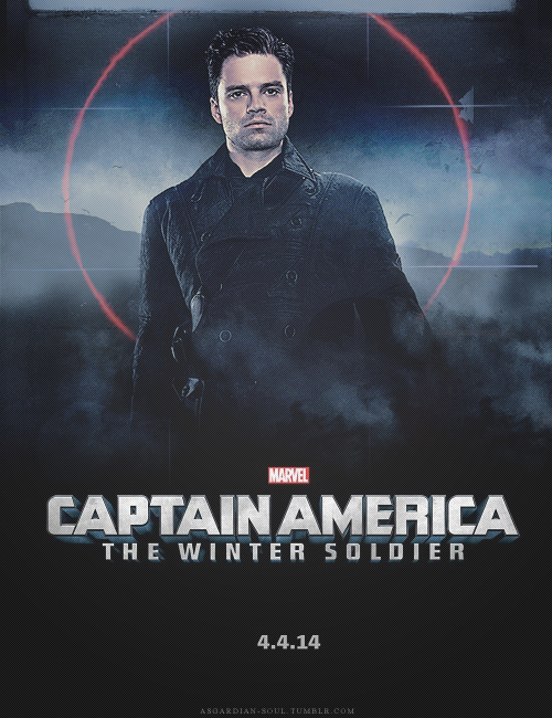 asgardian-soul:  so here is my take on the winter soldier poster. I know there are already a couple of them out there but I simply had to. I am seriously bothering my friends for months, talking about HOW MUCH I WANT THIS TO HAPPEN. Now it is. I can't express my feelings. I couldn't even believe that this was real. Marvel couldn't have made me any happier.