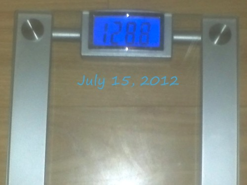 "Today's Weight: 128.8 lbs.Total Lost: 8.8 lbs.I had broccoli last night with chicken and egg whites when I woke up around lunch time…I'd guess the weight gain is only from the water retention in the broccoli. I'm not mad at all. I'm excited that my ""gain"" day is still in the 120's! I'm about to go for a run now :)"