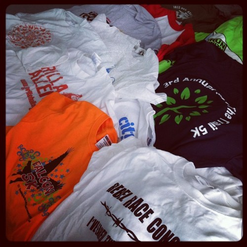Oh dear—11 race shirts! (Taken with Instagram)