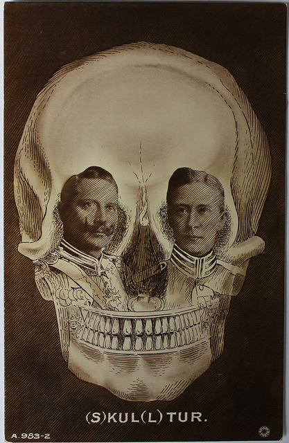 Old/Antique Skull Optical Illusion Postcard by JG50 No postmark - Circa 1910s