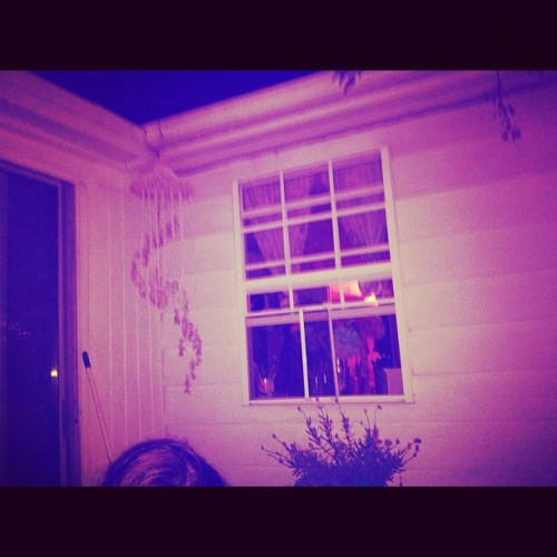 #lavender mood. #nighttime #window #windchime #deck  (Taken with Instagram)