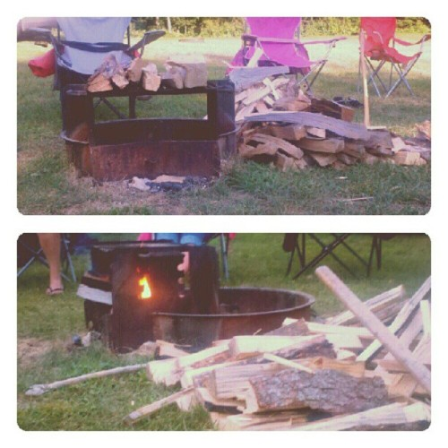 Day 14.. #building a fire #photoadayjuly (Taken with Instagram)
