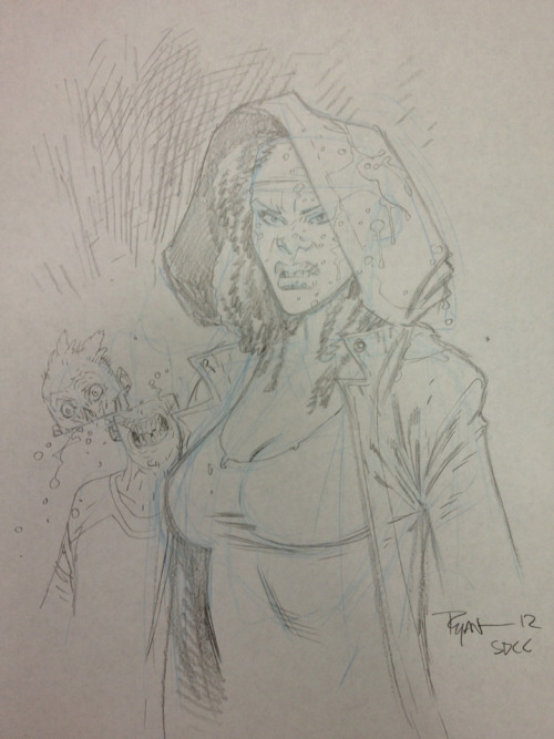 Michonne sketch. #SDCC