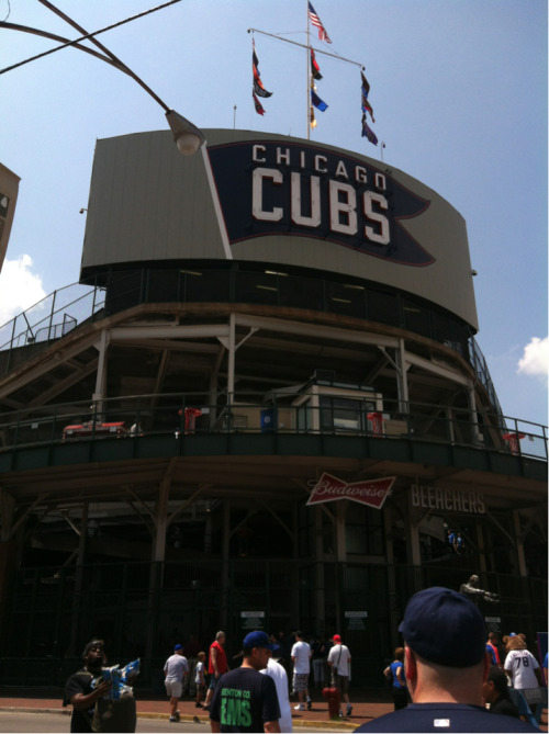 At Wrigley for Cubs game vs. Diamondbacks. Go Cubs!