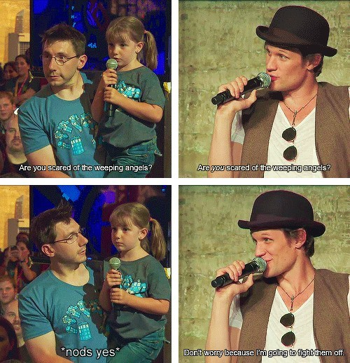 geekparenting:  Bless  Matt Smith. You are still an amazing human being. <3
