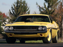 1970 Dodge Challenger R/T Banana Yellow.