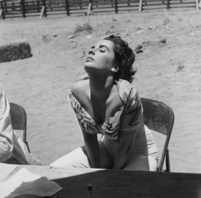 vintageho:  Liz Taylor by Sid Avery in Texas on the set of Giant (1955)