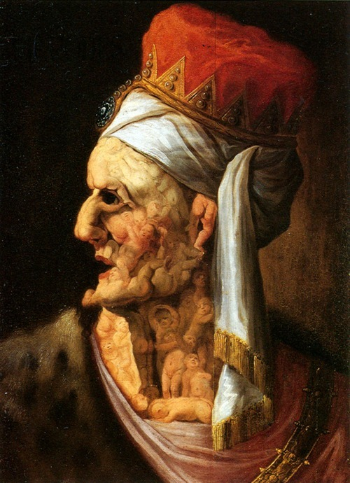 "Giuseppe Arcimboldo - ""Head of Herod"" , oil painting (ca.1566)"