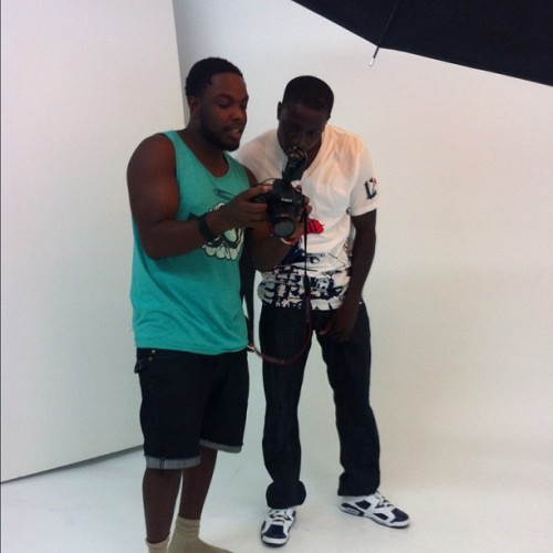Shoot w/ @respekfresh and @dariusbutler27 on set  (Taken with Instagram)