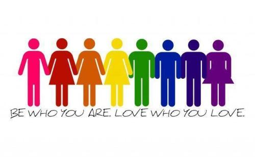 "Be who you are. Love who you love. ""Stolen"" from LGBT News on Facebook"