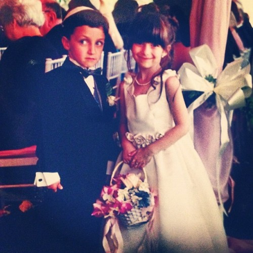 circa 1999— alex&alex #wedding #flowergirl #hamptons #spiffy (Taken with Instagram)