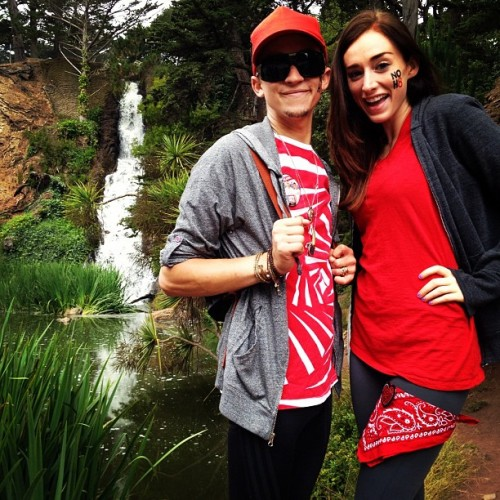 #red #waterfall #bff #aidswalk #sanfrancisco #goldengatepark (Taken with Instagram)