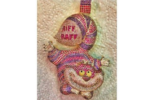 How did I not know about Riff Raff before? He just bought this. For like $40,000. Possibly the greatest bling of all time.