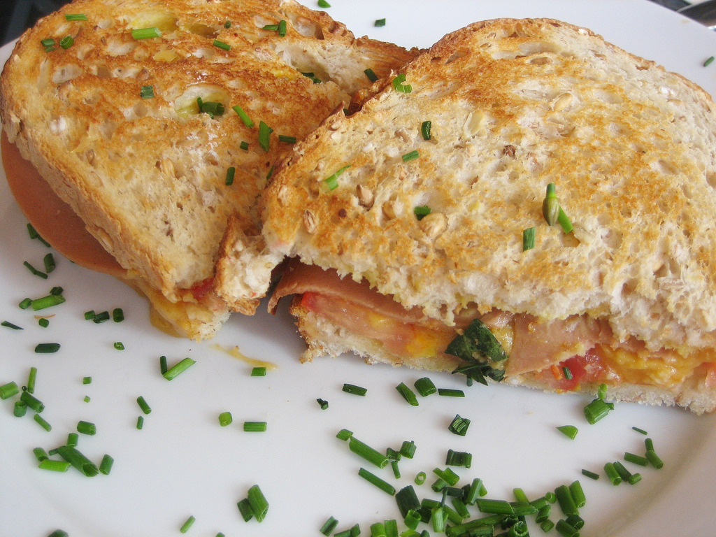 Vegan Ham and Cheese toastie