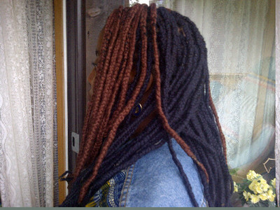 colored yarn braids