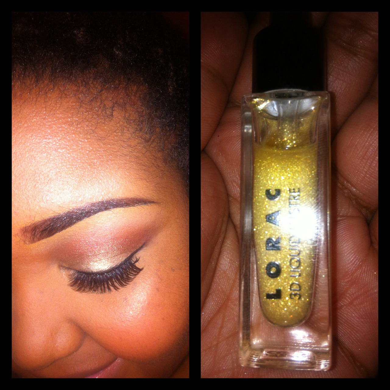"I purchased the Lorac 3D Liquid Lustre ($16) yesterday from Sephora. It's a ""shimmering eye makeup top coat"". I've used it as an eye shadow and also as a highlight on my cheekbones. I really like it. It gives a really subtle shimmer, but is buildable if you want more sparkle. I'll be doing a full review in a few weeks! :]"