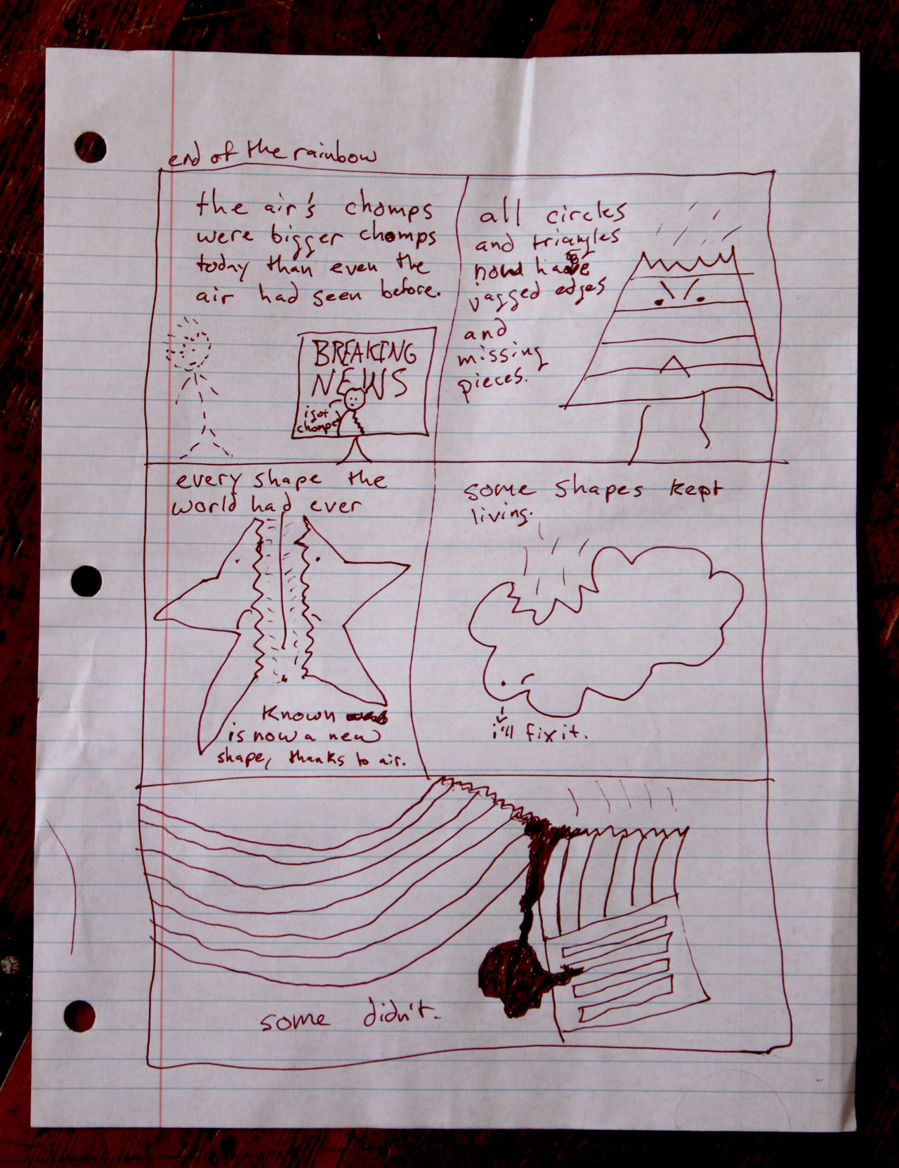 I just found this photo of a comic I drew that was for the birthday of the bud behind comicsdotcom.tumblr.com