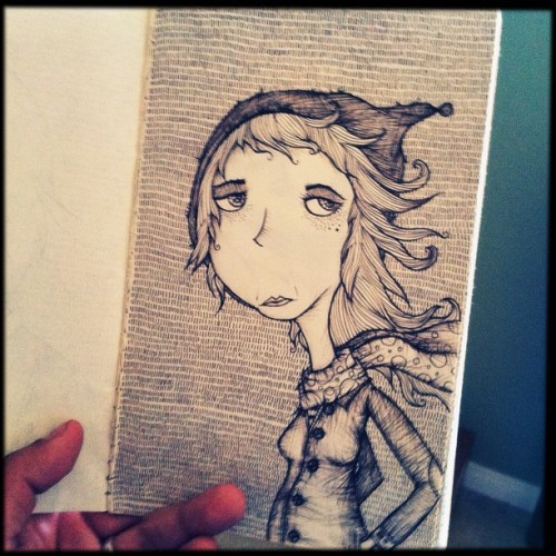 copio:  She Wizard #moleskin #illustration (Taken with Instagram)