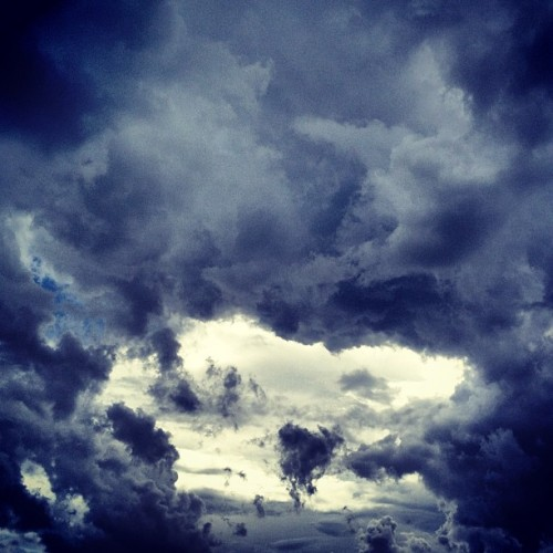 Scattered storms #clouds #nature #storm #wind #sky  (Taken with Instagram)