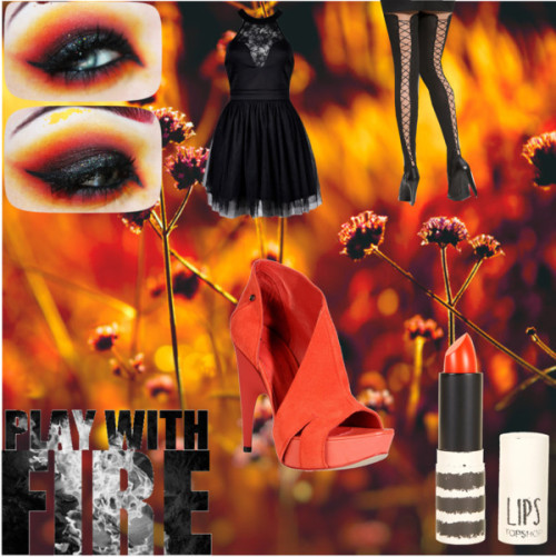 Play with Fire by sammie2013 featuring platform heels