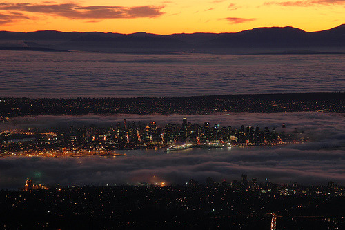 abatudes:  Vancouver sunset #11 (Wayne's Weather Window Winner) by travelcedric, on Flickr