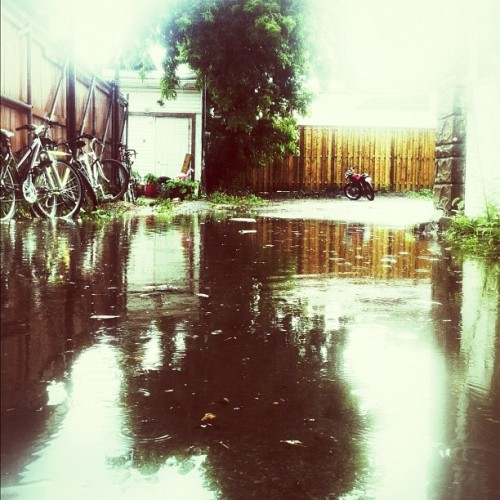 Alley/lake.  (Taken with Instagram)